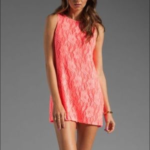 Naven Twiggy Dress in Neon Salmon